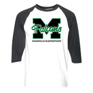Adult Falcons Raglan 3/4 Sleeve Shirt